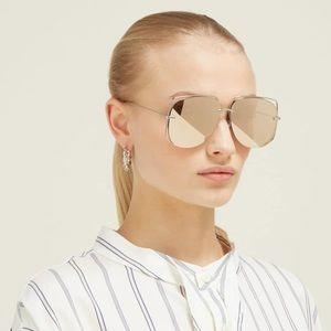 New Christian Dior rose gold mirrored lens